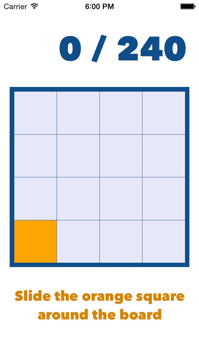 Slide the orange square around the board