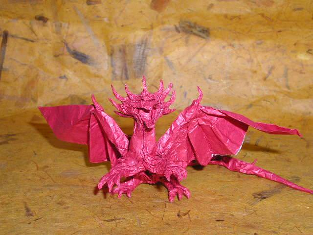 Picture of an Origami dragon